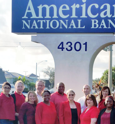 The ANB team participating in the GO RED day for women.